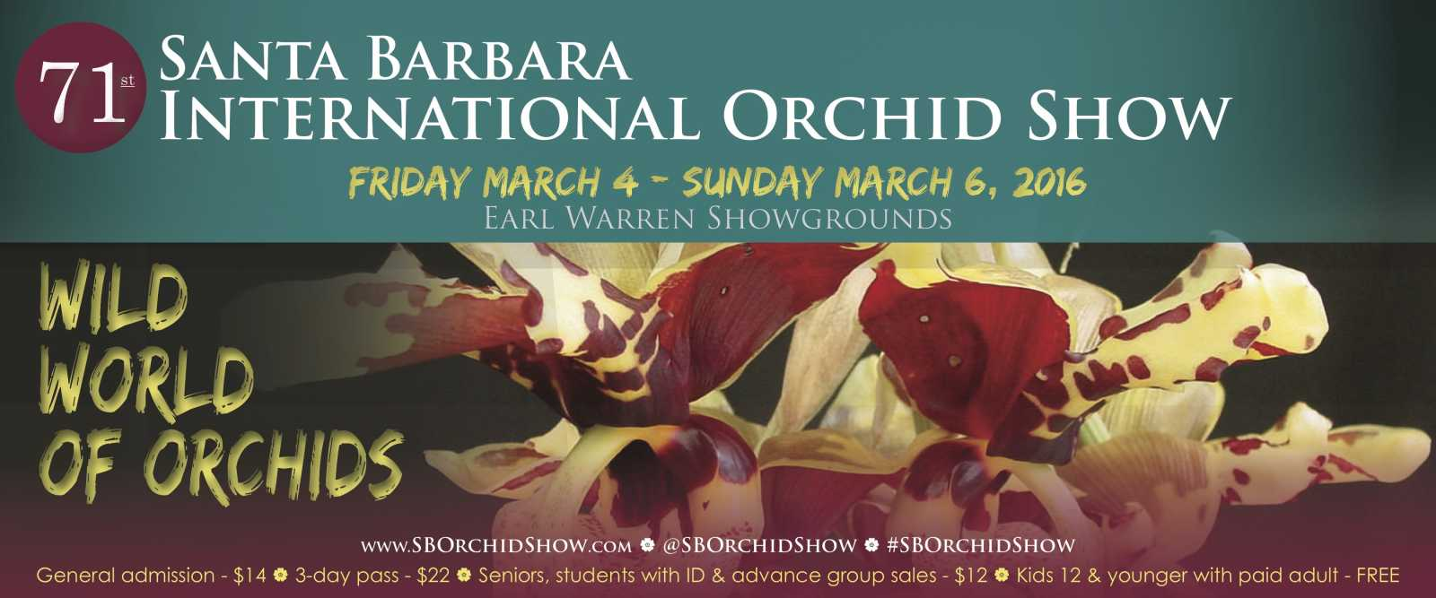 Wild World Of Orchids Arrives March 4 6 2016 Santa Barbara