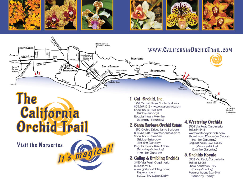2019 California Orchid Trail Map
